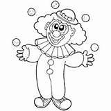 Clown Juggling Coloring Clipart Circus Surfnetkids Outline Preschool Sketch sketch template