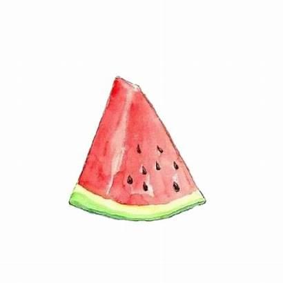 Watermelon Transparent Watercolor Drawing Slice Sandia Clipart