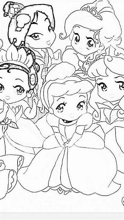Coloring Princess Disney Rapunzel Printable Princesses Youngandtae