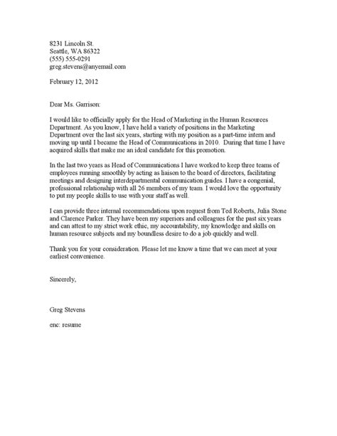 cover letter for promotion jvwithmenow