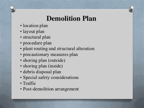 demolition plan template presentation demolition yıkım