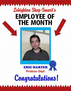 employee of the month certificate template with picture - create a poster about employee of the month staff