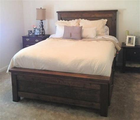 farmhouse bed  drawers diy projects