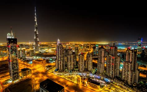 Dubai A City Of Heavenly Lights Full Hd Wallpaper And