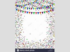 Bunting flags confetti frame as a celebration and party