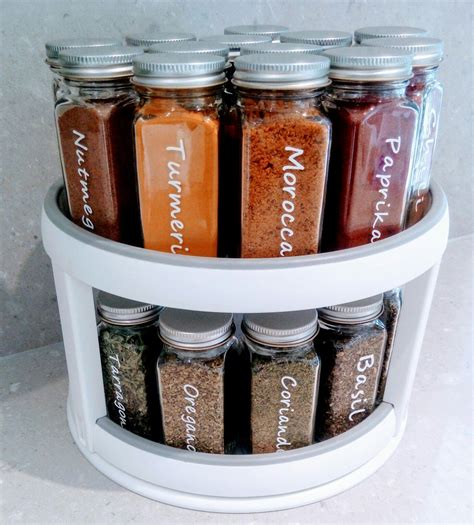 Kitchen Spice Jars Glass by Glass Spice Jars Custom Made White Vinyl Labels For 125ml