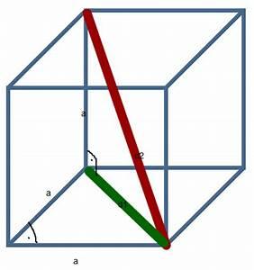 Rechtwinkliges Dreieck Berechnen Nur Eine Seite Gegeben : wie lang ist die raumdiagonale eines w rfels dessen kante 3 cm lang ist mathelounge ~ Themetempest.com Abrechnung