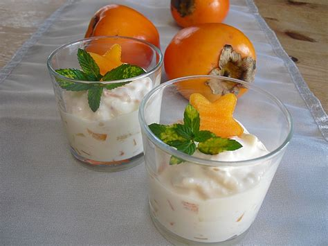 dessert avec des kakis kaki bananen dessert rezept mit bild juulee chefkoch de