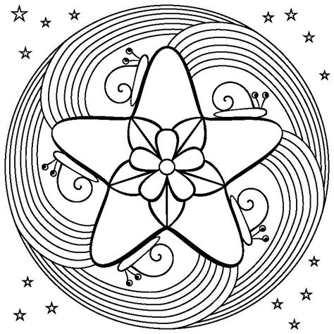 Rainbow Flower Mandala Coloring Page Also see the