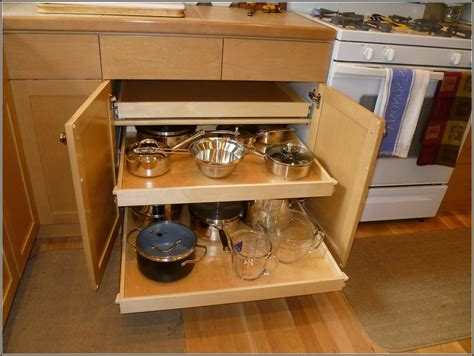 Small And Narrow Corner Kitchen Cabinet With DIY Pull Out