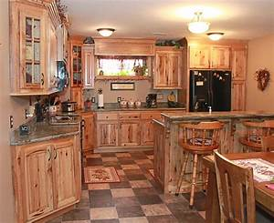 hickory kitchen cabinets natural characteristic materials With 4 materials rustic kitchen cabinets