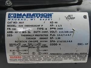 Marathon 56b34d2024f 1 2hp 3450rpm 115 230v Single