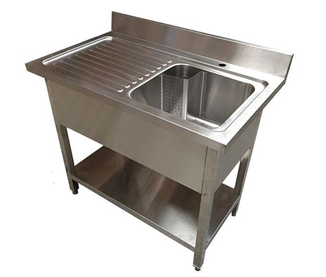 stainless steel deep bowl service sinks 1m commercial stainless steel lhd single bowl sink 600mm