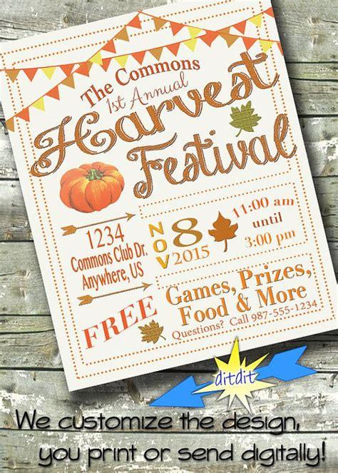 fall festival names harvest festival fall fest church or community event 5x7 invite 8 5x11 flyer 11x14