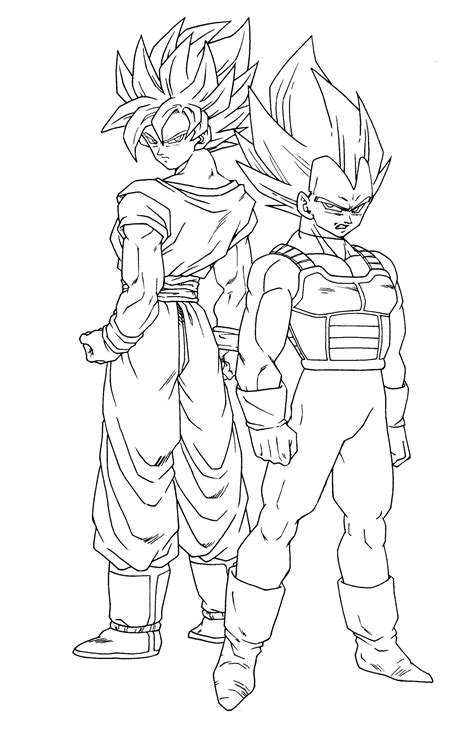 Fresh Dragon Ball Z Coloring Pages Goku  Coloring Pages