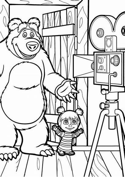 Masha Bear Coloring Pages Printable