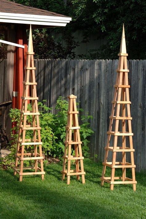 Small Wooden Trellis wooden trellis wood obelisk garden trellis if i a