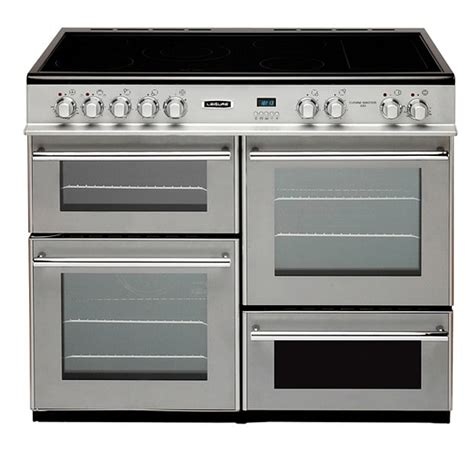 oven gas electric range cooker ovens leisure commercial than cooking cheaper 100cm ceramic stove baking cook kitchen silver modern cuisinemaster