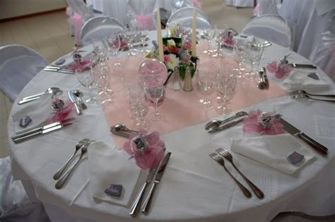 mariage en gris et argent d 233 co de table pink and silver wedding