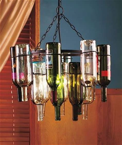 upcycled wine bottle chandelier kit for the indoors