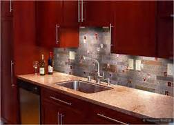 Delectable White Kitchen Cabinets Slate Floor Gallery Gallery Of Alluring Kitchen Glass Tiles Backsplash Cherry Cabinets