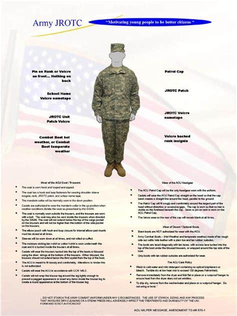 jrotc uniform wear appearance