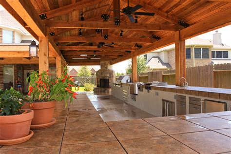 patio kitchen designs delicate outdoor kitchen roof ideas to set cozy backyard 1425