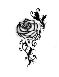 39 Best Rose Drawing Stencil Tattoo Designs images in 2017 | Drawing stencils, Body art tattoos