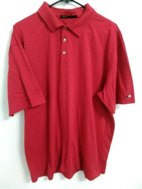 Tiger Woods Collection Nike Fit Dry Mens XL Red Mercedes ...