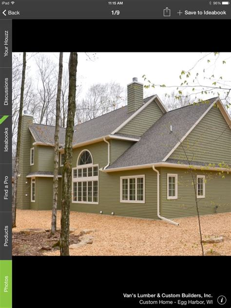 spruce green siding exterior design  colors