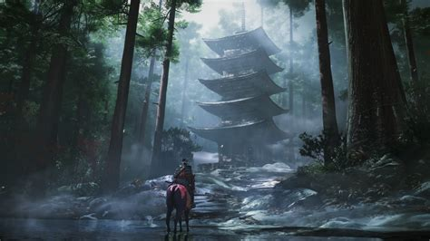 wallpaper ghost  tsushima screenshot  games