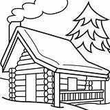 Coloring Cabin Log Pages Popular sketch template
