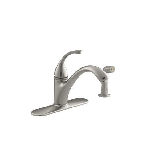 standard kitchen sink faucets kohler forte standard kitchen sink faucet with 9 1 16 in