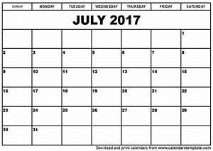 july 2017 calendar template With calander templates