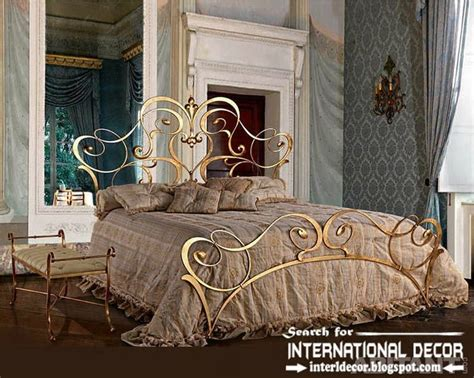 Royal Italian Golden Wrought Iron Bed And Headboard 2015