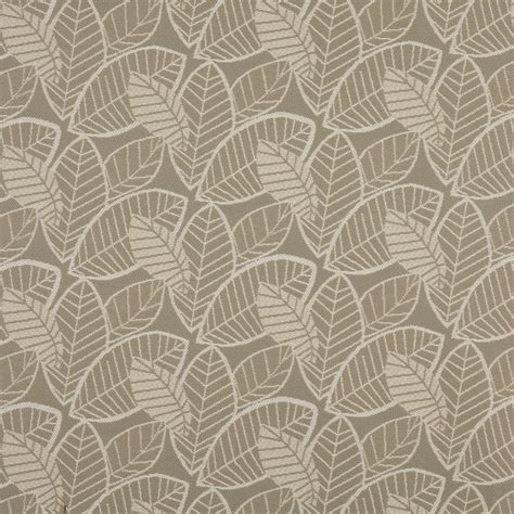 outdoor upholstery fabric gray and beige leaves woven outdoor upholstery fabric by