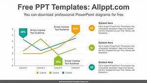 Arrow Tag Line Chart Powerpoint Diagram Template