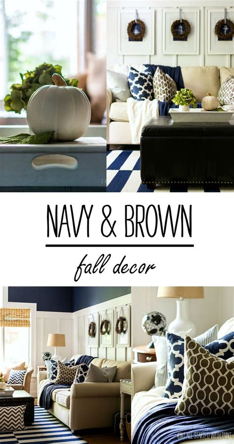Navy Living Room by Fall Decor In Navy And Blue Best Diy Ideas