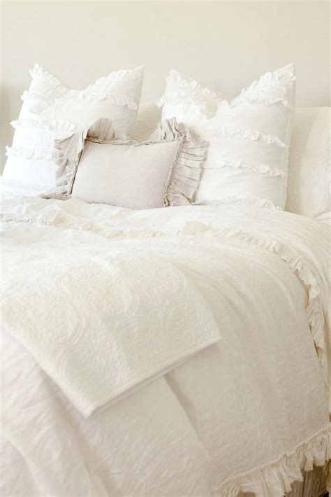 White Bed Sheets by White Ruffled Bedding Home Beautiful
