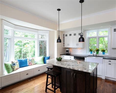 kitchen bay window decorating ideas kitchen traditional with bay window undermount sink painted