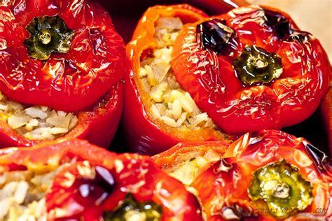 recette de cuisine marocaine facile et rapide poivrons farcis poivrons farcis au riz aux oignons et