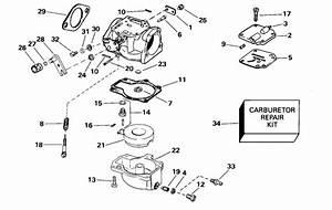 Johnson Carburetor Parts For 2000 40hp Bj40plssm Outboard