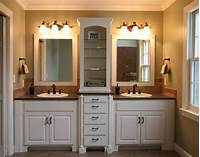 bathroom cabinet ideas How To Decor A Small Blue Master Bath | Actual Home | Actual Home