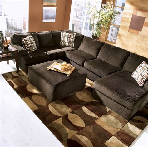 brown sectional with ottoman 12 photo of chocolate brown sectional sofa