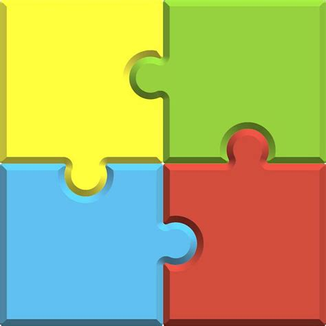 4 puzzle template 4 pieces clipart clipground