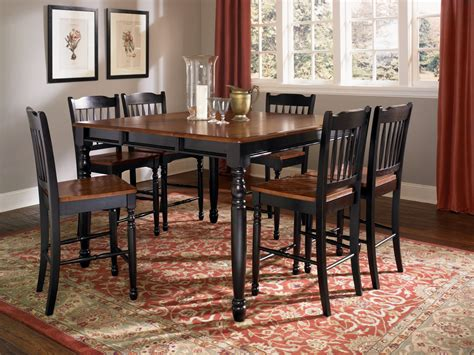 A America British Isles Antique Black Oak Dining Collection