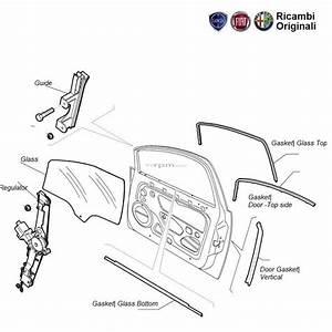 Fiat Grande Punto Door Glass  Winder  Seal Gasket Front Right