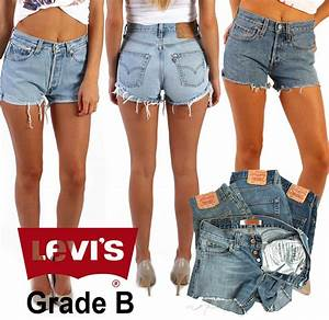 LEVIS DENIM SHORTS WOMENu0026#39;S VINTAGE HIGH WAISTED HOTPANTS GRADE B 6 8 10 12 14 16 | eBay