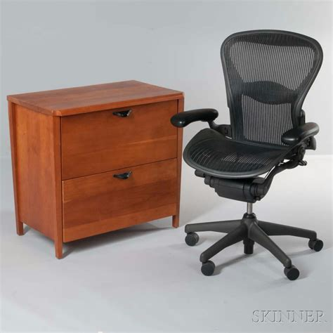 herman miller file cabinet and aeron chair sale number