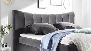 Bett 180x200 Grau : boxspringbett seward schlafzimmer bett in grau mit topper 180x200 ~ Indierocktalk.com Haus und Dekorationen